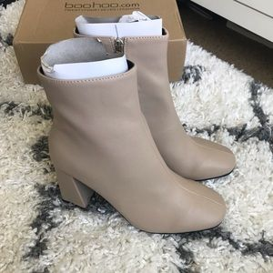 NEW Nude Heeled Booties